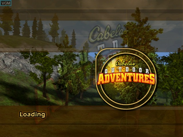 Title screen of the game Cabela's Outdoor Adventures on Microsoft Xbox