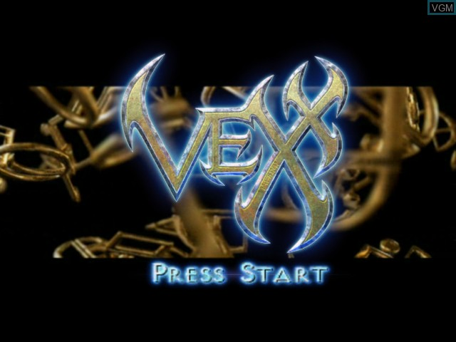 Title screen of the game Vexx on Microsoft Xbox