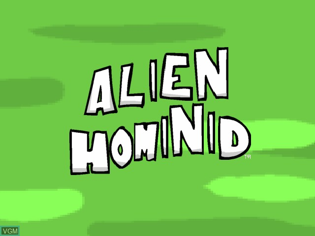 Title screen of the game Alien Hominid on Microsoft Xbox