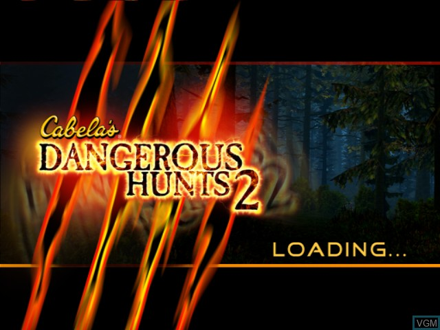 Title screen of the game Cabela's Dangerous Hunts 2 on Microsoft Xbox