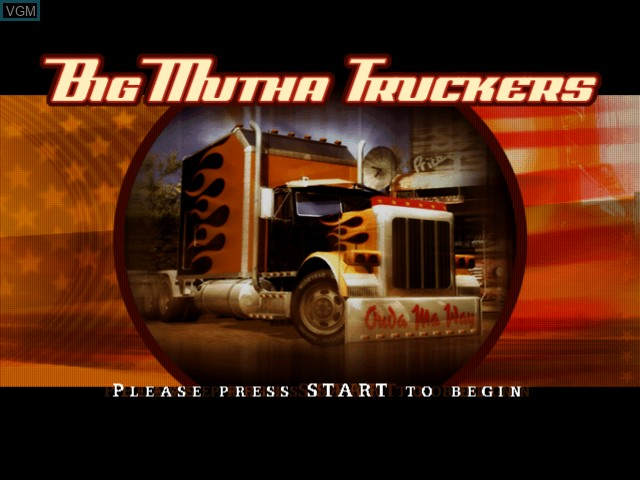 Title screen of the game Big Mutha Truckers on Microsoft Xbox