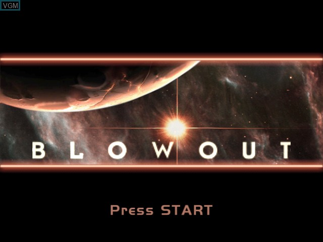 Title screen of the game BlowOut on Microsoft Xbox