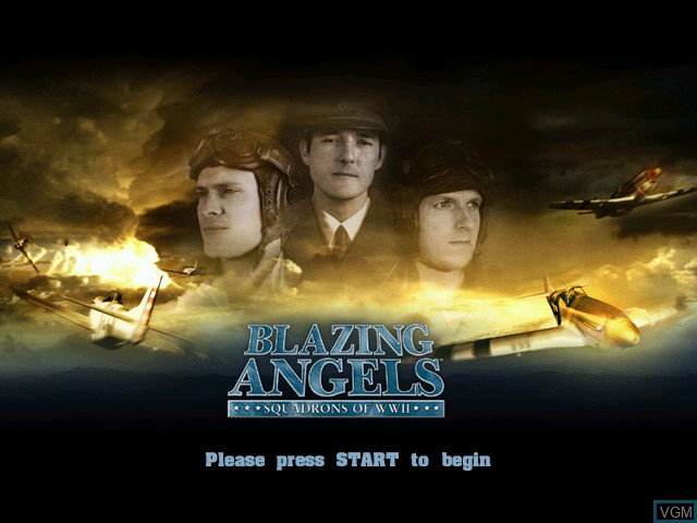 Title screen of the game Blazing Angels - Squadrons of WWII on Microsoft Xbox
