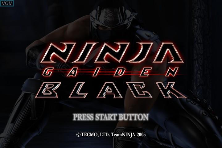 Ninja Gaiden Black For Microsoft Xbox The Video Games Museum
