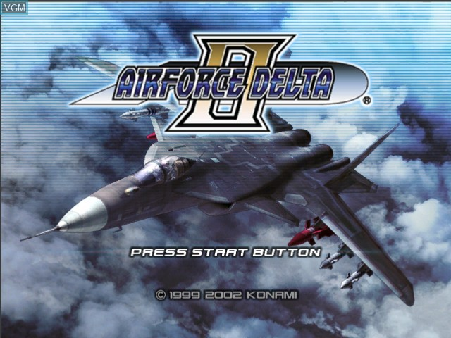 Title screen of the game AirForce Delta II on Microsoft Xbox