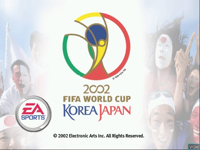 Title screen of the game 2002 FIFA World Cup on Microsoft Xbox
