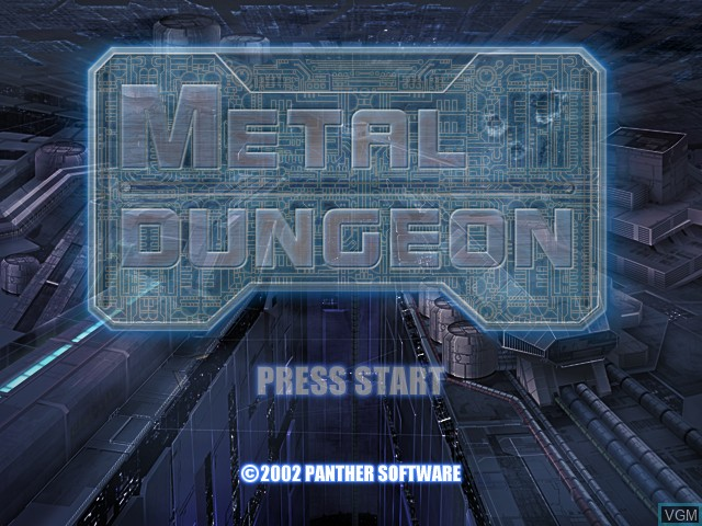 Title screen of the game Metal Dungeon on Microsoft Xbox