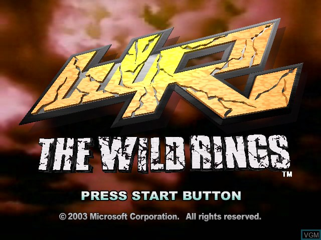 Title screen of the game Wild Rings, The on Microsoft Xbox