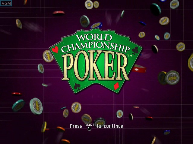 Title screen of the game World Championship Poker on Microsoft Xbox