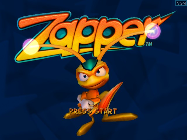 Title screen of the game Zapper on Microsoft Xbox