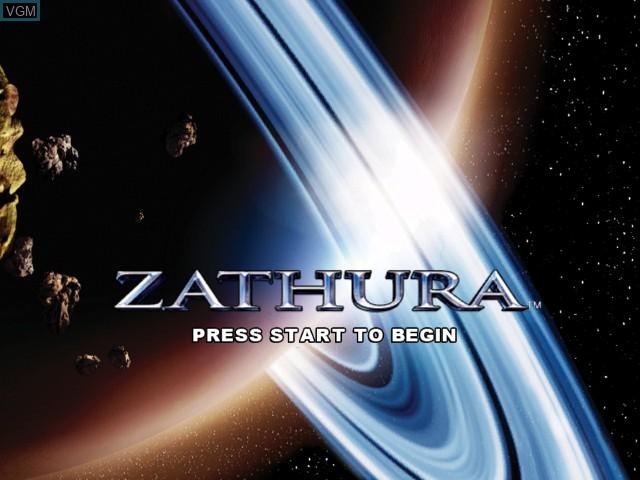 Title screen of the game Zathura on Microsoft Xbox