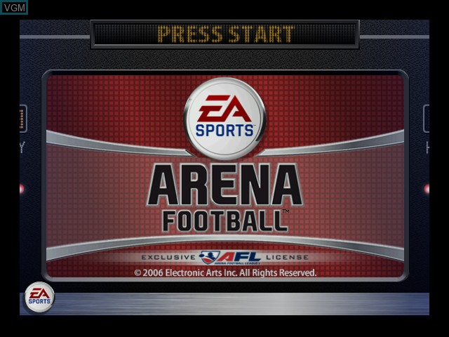 Title screen of the game Arena Football on Microsoft Xbox