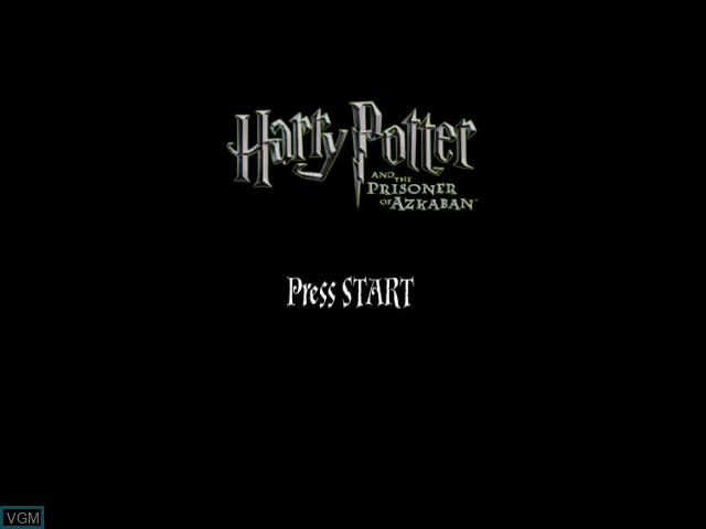 Title screen of the game Harry Potter and the Prisoner of Azkaban on Microsoft Xbox