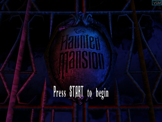 Title screen of the game Haunted Mansion, The on Microsoft Xbox