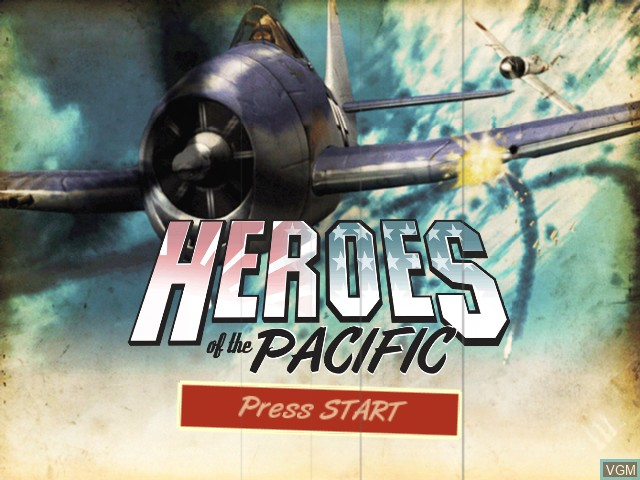 Title screen of the game Heroes of the Pacific on Microsoft Xbox