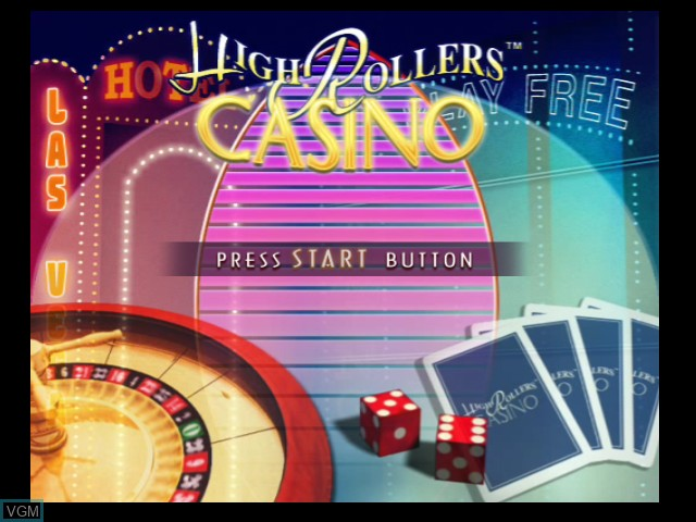 Title screen of the game High Rollers Casino on Microsoft Xbox