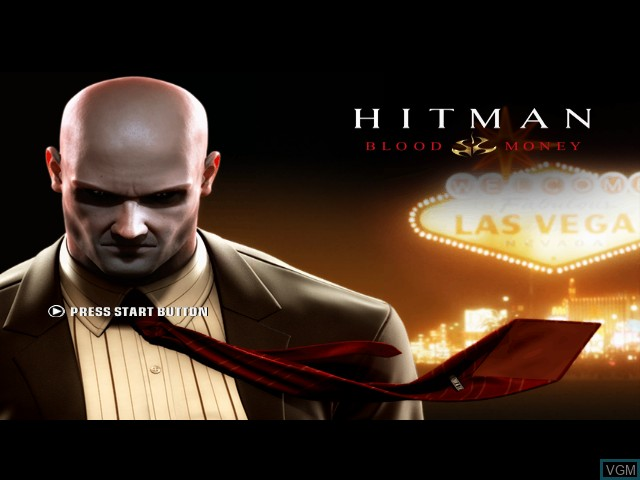 Title screen of the game Hitman - Blood Money on Microsoft Xbox