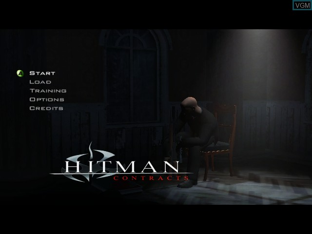 Title screen of the game Hitman - Contracts on Microsoft Xbox
