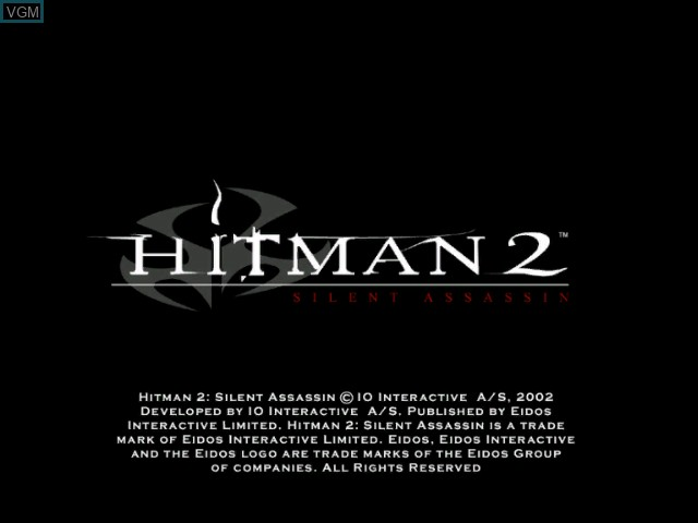 Title screen of the game Hitman 2 - Silent Assassin on Microsoft Xbox