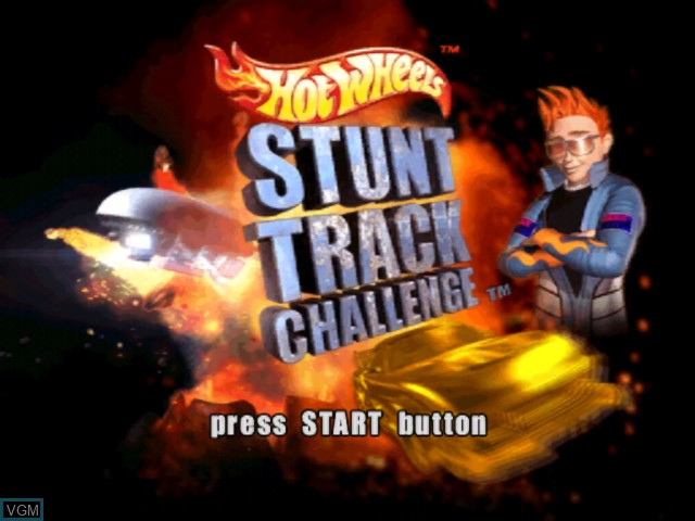 Title screen of the game Hot Wheels - Stunt Track Challenge on Microsoft Xbox