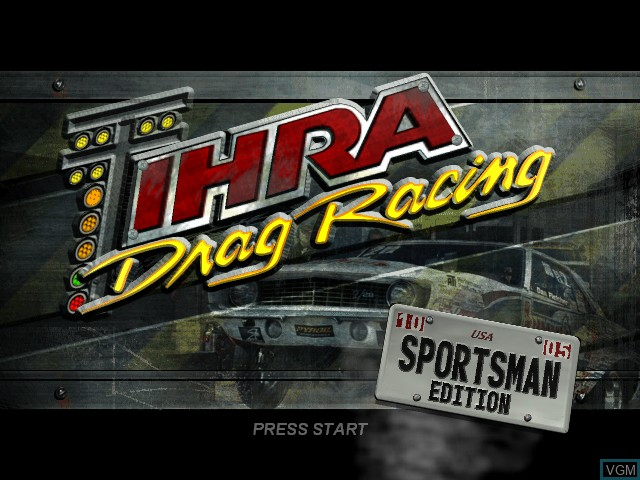 Title screen of the game IHRA Drag Racing - Sportsman Edition on Microsoft Xbox