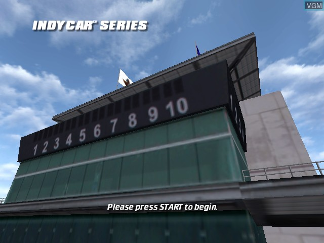 Title screen of the game IndyCar Series on Microsoft Xbox