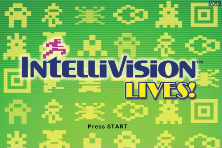 Title screen of the game Intellivision Lives! on Microsoft Xbox