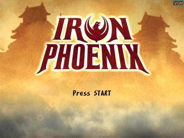 Title screen of the game Iron Phoenix on Microsoft Xbox