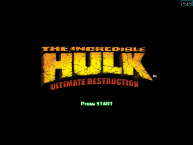 Title screen of the game Incredible Hulk, The - Ultimate Destruction on Microsoft Xbox
