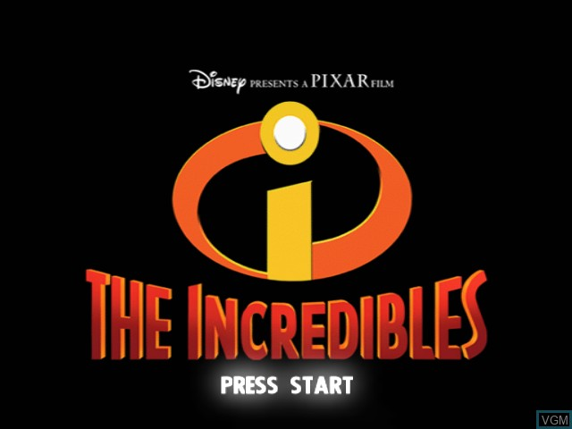 Title screen of the game Incredibles, The on Microsoft Xbox