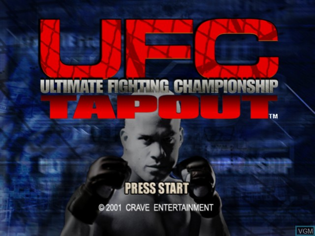 Title screen of the game Ultimate Fighting Championship - Tapout on Microsoft Xbox