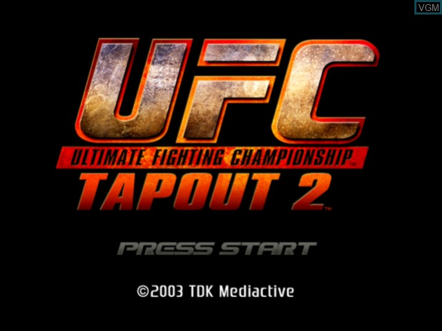 Title screen of the game UFC - Tapout 2 on Microsoft Xbox