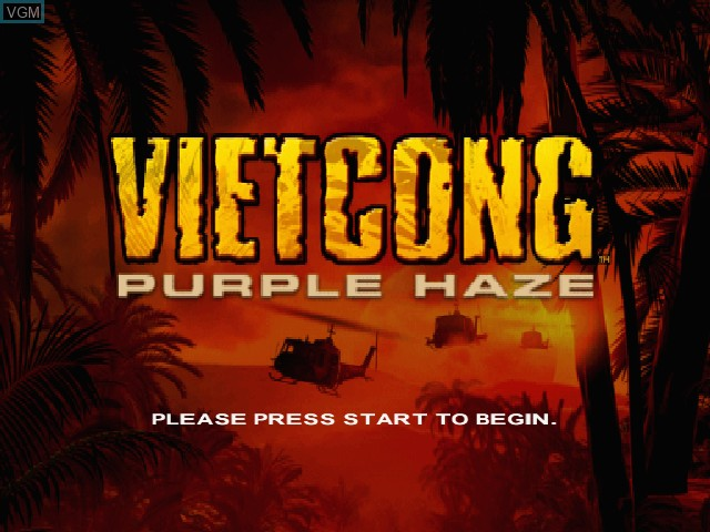 Title screen of the game Vietcong - Purple Haze on Microsoft Xbox