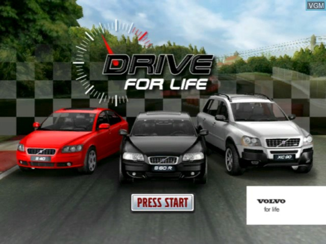 Title screen of the game Volvo - Drive for Life on Microsoft Xbox