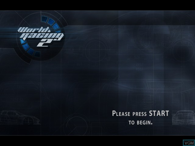 Title screen of the game World Racing 2 on Microsoft Xbox