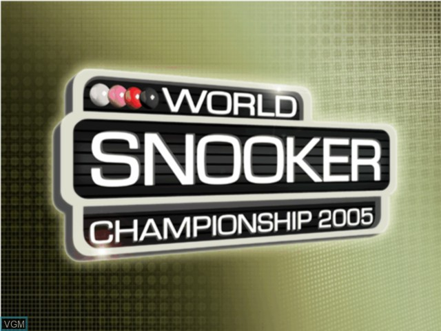Title screen of the game World Snooker Championship 2005 on Microsoft Xbox