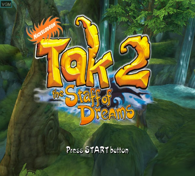 Title screen of the game Tak 2 - The Staff of Dreams on Microsoft Xbox