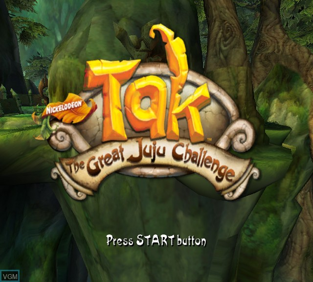 Title screen of the game Tak - The Great Juju Challenge on Microsoft Xbox