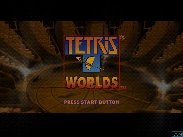Title screen of the game Tetris Worlds on Microsoft Xbox