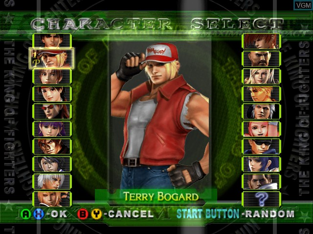 Menu screen of the game King of Fighters, The - Maximum Impact - Maniax on Microsoft Xbox