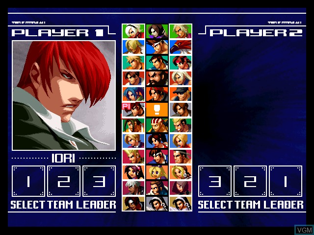 Menu screen of the game King of Fighters 2003, The on Microsoft Xbox