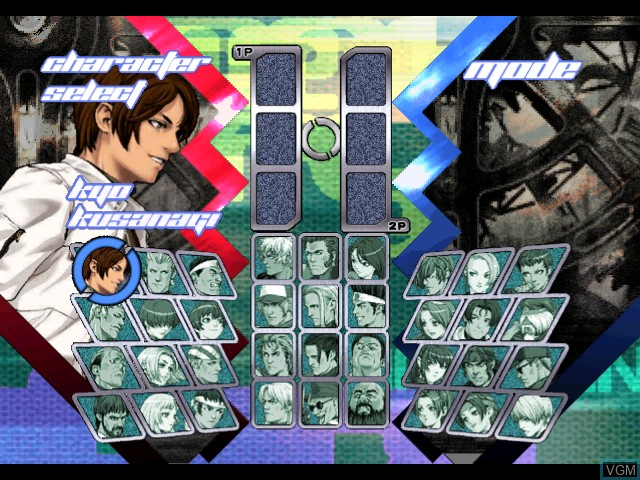 Menu screen of the game King of Fighters NeoWave on Microsoft Xbox