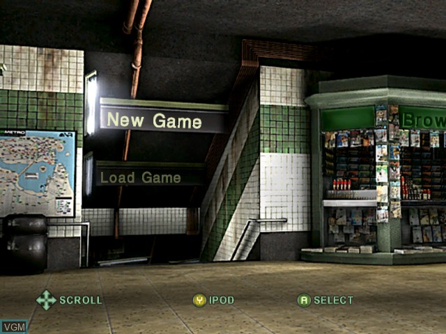 Menu screen of the game Marc Ecko's Getting Up - Contents Under Pressure on Microsoft Xbox