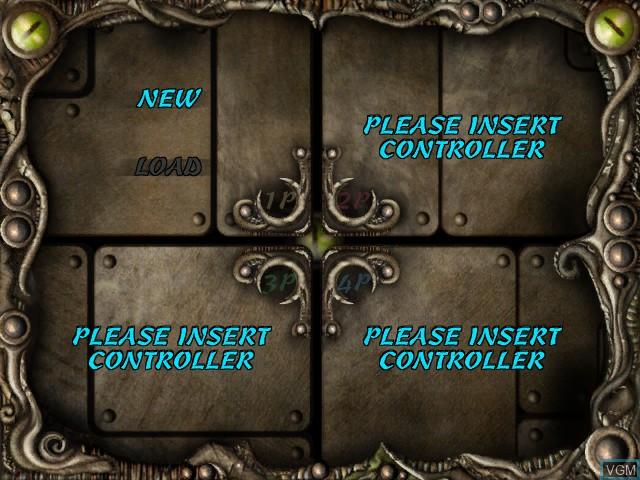 Menu screen of the game Black Stone - Magic & Steel on Microsoft Xbox