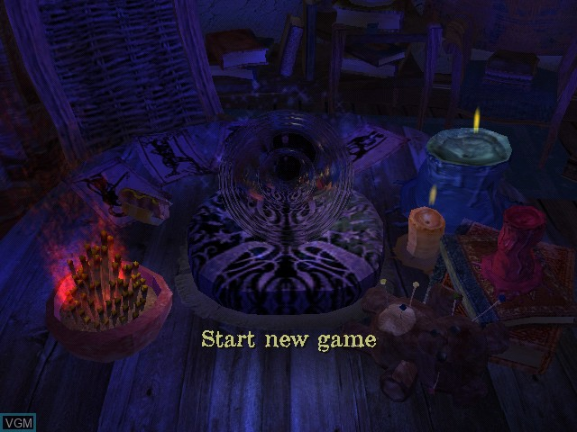 Menu screen of the game Voodoo Vince on Microsoft Xbox