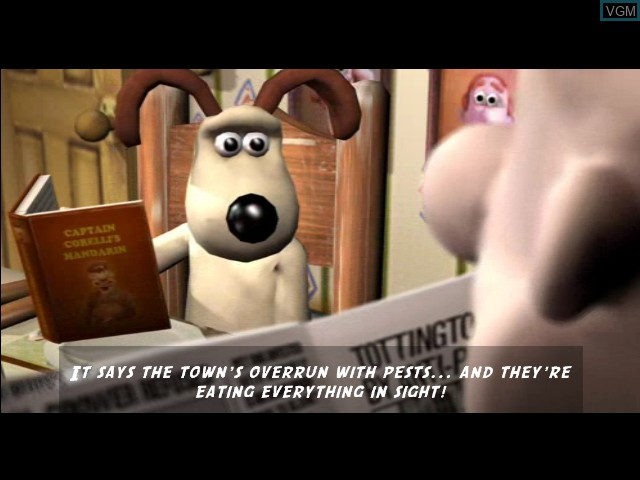 Menu screen of the game Wallace & Gromit - Curse of the Were-Rabbit on Microsoft Xbox