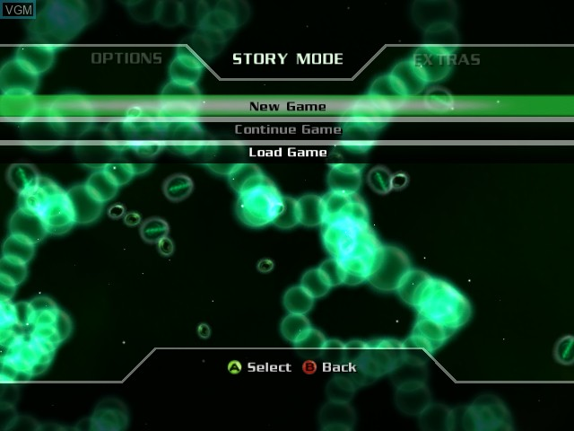 Menu screen of the game Incredible Hulk, The - Ultimate Destruction on Microsoft Xbox