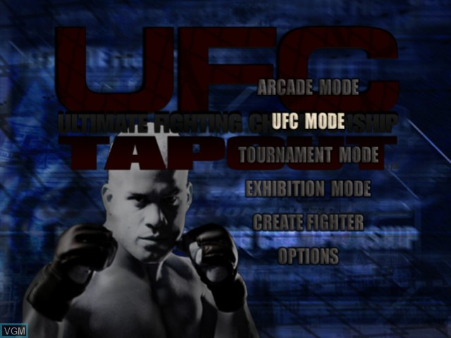 Menu screen of the game Ultimate Fighting Championship - Tapout on Microsoft Xbox