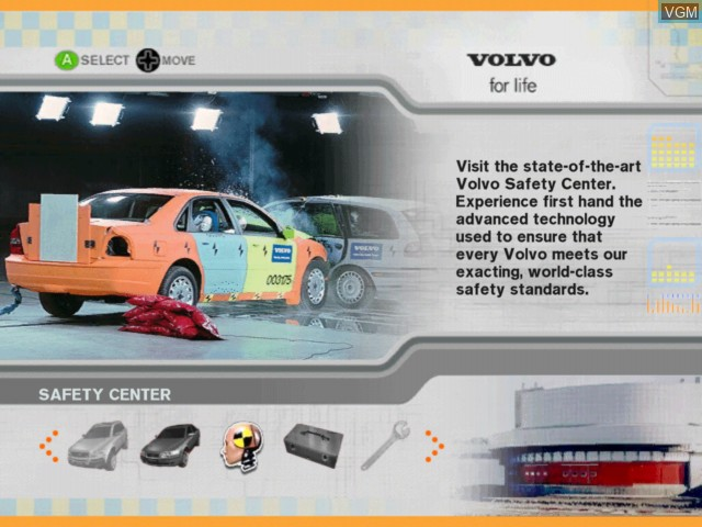 Menu screen of the game Volvo - Drive for Life on Microsoft Xbox