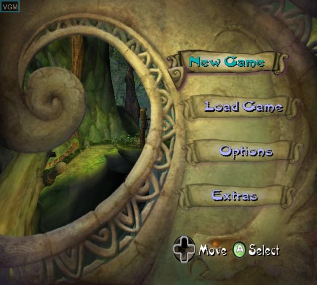 Menu screen of the game Tak - The Great Juju Challenge on Microsoft Xbox